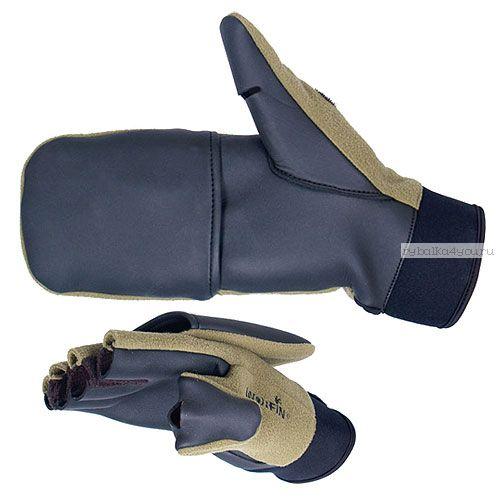 Перчатки-варежки Norfin WINDPROOF отстегивающиеся 703056