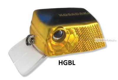 Воблер Kosadaka CUBIX 35F (Konstantin Kuzmin) цвет HGBL / 6.4 гр / 0.0-0.3м