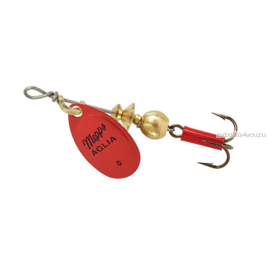 Блесна Mepps Aglia Platinum Rouge  №0 (2,5 гр)
