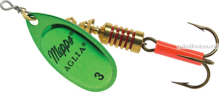 Блесна Mepps Aglia Platinum Vert №3 (6,5 гр)