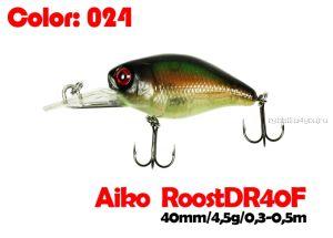 Воблер Aiko Roost cnk DR 40F  40 мм/ 4,5 гр / 0,3 - 0,5м / цвет - 024