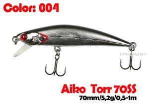 Воблер  Aiko TORR 70SS  70 мм/ 5,6 гр / 0,5-1 м / цвет - 004