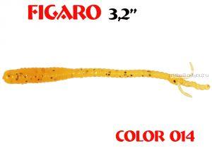 """Мягкая приманка Aiko  Figaro 3.2"""" 80мм / запах рыбы / цвет - 014  (упаковка 8шт)"""