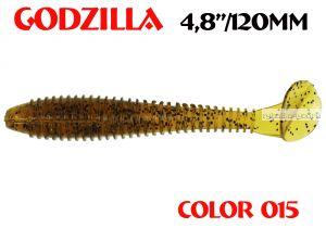 "Мягкая приманка Aiko  Godzilla 4.8"" 120мм / запах рыбы / цвет - 015  (упаковка 5шт)"