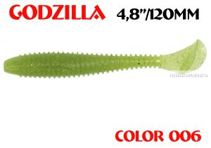 "Мягкая приманка Aiko  Godzilla 4.8"" 120мм / запах рыбы / цвет - 006  (упаковка 5шт)"