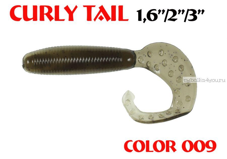 """Твистеры Aiko Curly Tail F 4"""" 100 мм / 8,8 гр / запах рыбы / цвет - 009 (упаковка 4 шт)"""