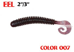 "Твистеры Aiko  Eel 3"" 75 мм / 2,2 гр / запах рыбы / цвет - 007 (упаковка 8 шт)"