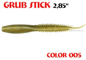 "Червь Aiko Grub Stik 2.85"" 72 мм / запах рыбы / цвет - 005 (упаковка 8 шт)"