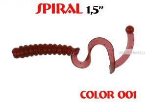 """Твистеры Aiko  Spiral 1.5"""" 25 мм / 0,62 гр / запах рыбы / цвет - 001 (упаковка 10 шт)"""