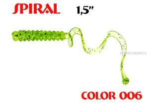 """Твистеры Aiko  Spiral 1.5"""" 25 мм / 0,62 гр / запах рыбы / цвет - 006 (упаковка 10 шт)"""