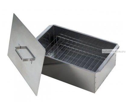 Коптильня двухъярусная с поддоном для сбора жира, нерж сталь 0,8 мм(Арт: 10-01-0020)