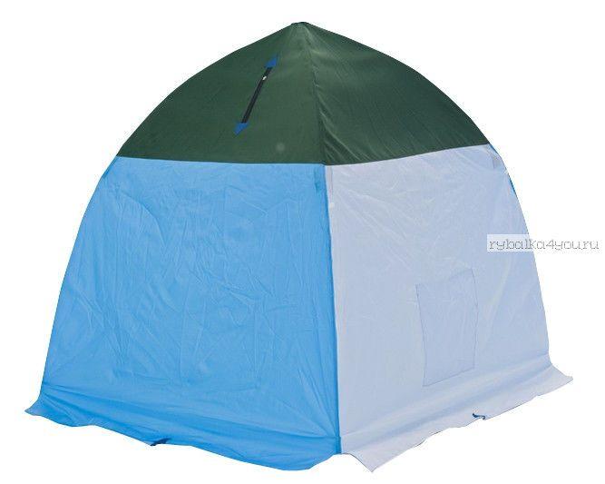 Палатка-зонт без дна Классика с алюм. звездочкой 1-а мест. (брезент)(СТЭК - 32986)