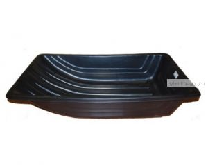 Сани рыбацкие (пласт. корыто) № 4 1020х620х220 черный (арт.2340)