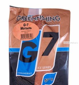 Прикормка Greenfishing G7 Ice Мотыль 500 гр