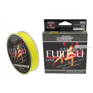 Леска плетеная Fujitsu Samurai цвет: 06 Yellow Fluorescent (желтый) 125 м