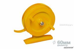 Зимняя катушка German инерционная 60 мм / Оранжевый