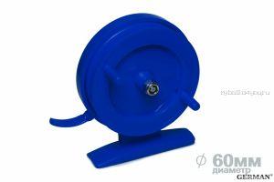 Зимняя катушка German инерционная 70 мм / Синий