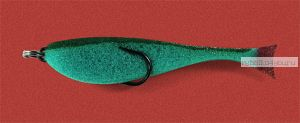 Поролоновая рыбка OnlySpin Bait 80 мм / упаковка 5 шт / цвет: зеленый