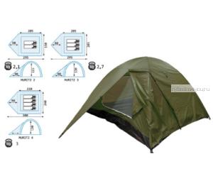 Палатка Reisen Muritz 4 (olive)