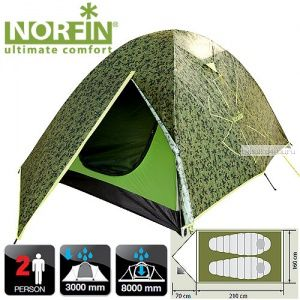 Палатка 2-х местная Norfin COD 2 NC-10102