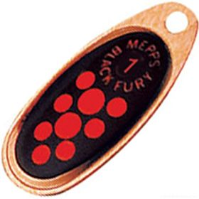 Купить Блесна Mepps Comet Black Fury цвет CU/OR / №3 6.5гр