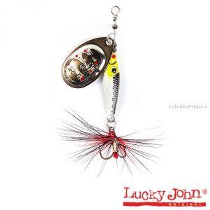 Блесна вращающаяся Lucky John TRIAN BLADE ROUND  / 6гр / 004