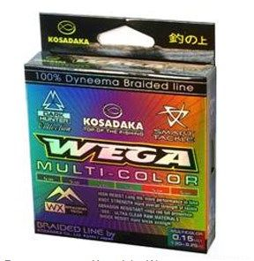 Купить Леска плетеная Kosadaka Wega мультицвет 130 м