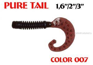 """Твистеры Aiko  Pure tail 2"""" 50 мм / 1,21 гр / запах рыбы / цвет - 007 (упаковка 10 шт)"""
