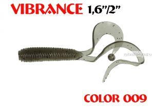 """Твистеры Aiko  Vibrance  1.6"""" 40 мм / 0,56 гр / запах рыбы / цвет - 009 (упаковка 12 шт)"""