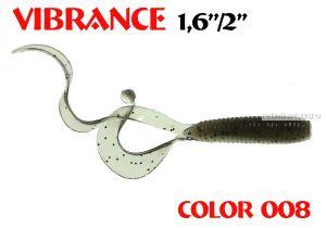 """Твистеры Aiko  Vibrance  1.6"""" 40 мм / 0,56 гр / запах рыбы / цвет - 008 (упаковка 12 шт)"""