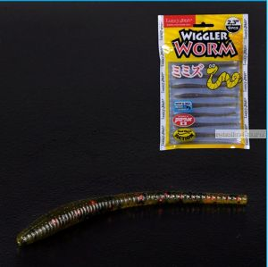 Слаг Lucky John Pro Series Wiggler Worm 58 мм / упаковка 9 шт / цвет РА03