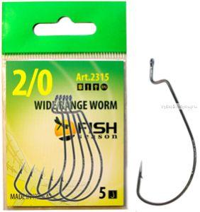 Крючок Fish Season Wide Range Worm  офсетный, покрытие BN ( упаковка 5 шт)(Артикул:2315)