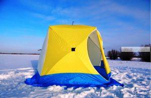 Палатка КУБ 3, трехслойная (брезент) (СТЭК - 50495)