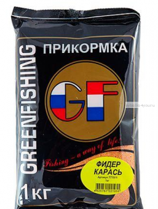 Прикормка Greenfishing GF Фидер Карась 1кг