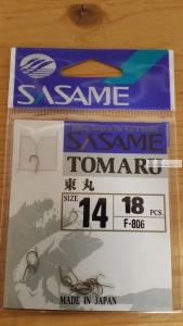 Крючок Sasame Tomaru F-806 упаковка 18 шт