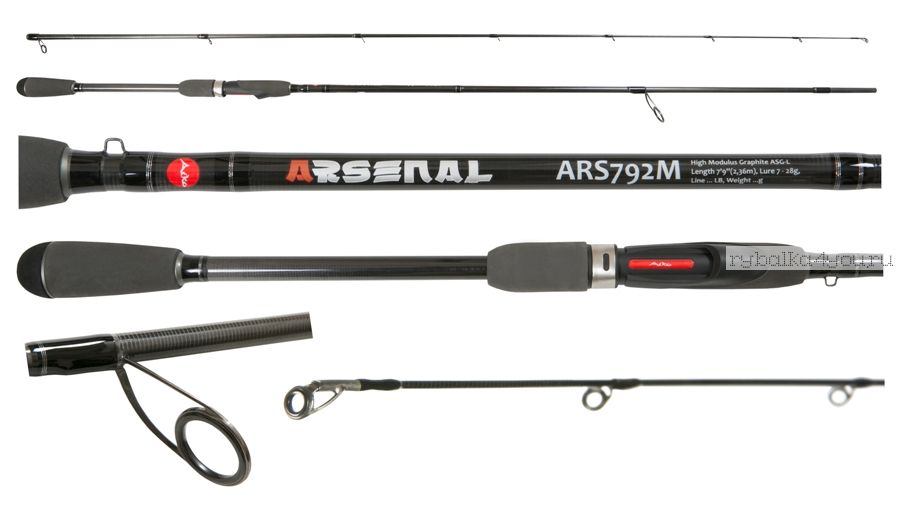 Спиннинг Aiko Arsenal ARS792M 236 см 7-28 гр