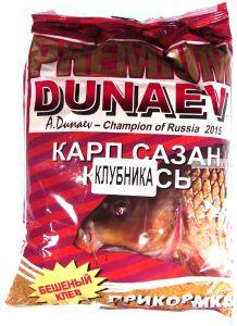 Прикормка Dunaev Premium  1кг Карп-Сазан ( Клубника)