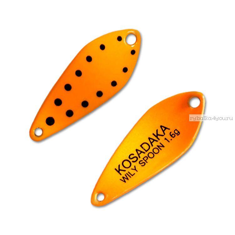 Купить Блесна Kosadaka Trout Police Wily Spoon 1,6гр / 27мм /цвет: D77