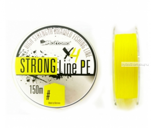 Плетеный шнур Mottomo Strong Line PE Fluo Yellow 150м